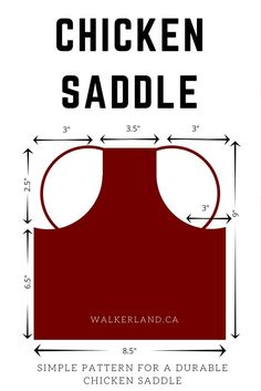 A chicken saddle is a simple to make and useful tool that every chicken keeper should have. This is a pattern for a quick and easy saddle that requires very little sewing. A saddle can help prevent loss of feathers from overly rambunctious roosters and can protect your hens from injury from pecking.
