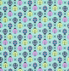 Lady Bugs in Sky from Birds and Bees by Tula Pink - Fat Quarter. $2.75, via Etsy.  I love this fabric!!!