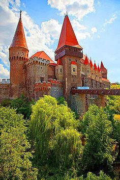 Château Hunyad entrée ..... Le plus grand château gothique de style en Roumanie