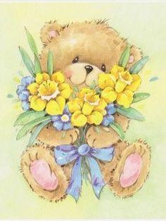 """""""Cute~Little~Bear~&~Spring~Flowers""""..."""