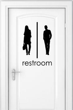 Wall Decals Bathroom Signs