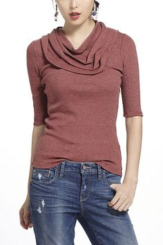 Pleated cowl neck...