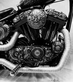 Engraved Sportster Harley-Davidson of Long Branch Custom Choppers, Custom Harleys, Custom Bikes, Custom Bobber, Cool Motorcycles, Vintage Motorcycles, Triumph Bikes, Concept Motorcycles, American Motorcycles