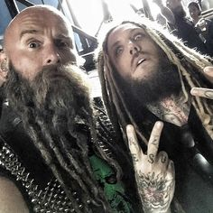 """From Chris Kaels FB page! """"Now THAT is a lot of dreads! @brianheadwelch #DreadYesSon #Graspop"""""""