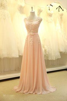 Vloer lengte avondjurk gown 2015 nieuwe elegante roze a lijn lace chiffon maxi lange jurk vrouwen bruiloften prom feestjurk in 1. over het verschepenWanneer u een bestelling plaatst, wij bieden u alle de verzendmethoden voor u om te kiezen, meesta van ' s avonds jurken op AliExpress.com   Alibaba Groep