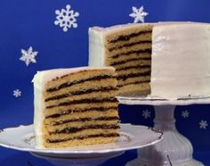 There are a variety of fillings used in this cake, the most common being prunes.