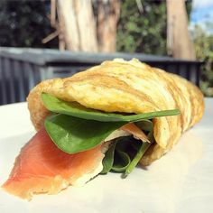 late breakfast in the sunshine   smoked salmon, cream cheese and spinach omelette   #healthy #healthyeating #cleaneating #cleaneats #omelette #eggs #smokedsalmon #lowcarb #lowcarbbreakfast #lowcarbhighfat #protein #sunday #nutritionstudent #mkr #mykitchenrules #masterchef #foodie #healthyfoodie #iqs #iquitsugar #sugarfree #glutenfree #recipe #balancebymonica