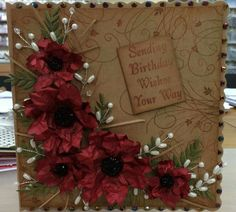 Interesting use of Kraft Birthday Wishes, Birthday Cards, Chloes Creative Cards, Stamps By Chloe, Pretty Cards, Xmas Cards, Crafts To Make, Cardmaking, Christmas Crafts