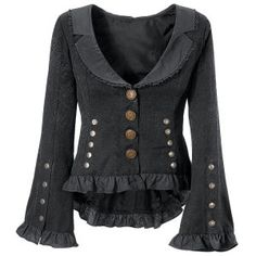 Sweet Steampunk Jacket.... hmmm inspiring an upcycle, maybe?!!! ;)
