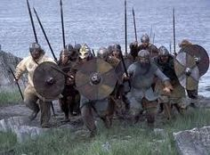 viking warriors ready to attack