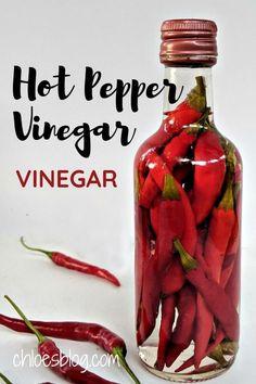 Pepper Sauce Recipe Vinegar, Hot Pepper Sauce, Hot Pepper Recipes, Hot Sauce Recipes, Homemade Spices, Homemade Seasonings, Homemade Syrup, Canning Peppers, Home Canning Recipes