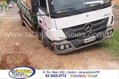 Caminhão atolado - Rua Domiciliano Castro - Bairro Aeroporto