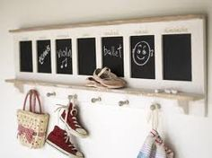 22 Creative Modern Ideas for Interior Decorating with Black Chalkboard Paint Chalkboard Calendar, Chalkboard Decor, Sticky Back Plastic, Cool Kids Rooms, Hallway Storage, Storage Hooks, Cox And Cox, Family Organizer, Wooden Pegs