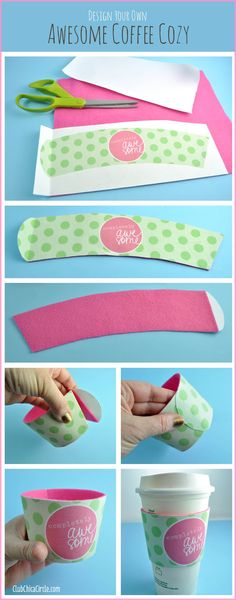 How to make an easy homemade coffee sleeve - perfect for yourself, Mother's Day, Father's Day, friends, teachers....
