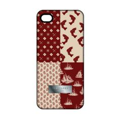 The white background patterns across from each other and the red background patterns across from each other really brings out the case. The use of only two colors keeps the design from becoming too busy and distracting. The keeping with the same theme in the patterns helps to decluster the phone case and keep it fresh and bold. This case was found at http://www.icollectionshop.com/products/ted-baker-mens-iphone-5-case