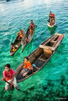 """The Bajau people, commonly known as """"sea nomads,"""" live in coastal regions of the Philippines, Malaysia, and Indonesia. No one really knows the exact origin of this tribe but they are sure hell the most unique ones I have come across so far in my life. Regions Of The Philippines, Philippines Culture, Bajau People, Laos, Borneo Travel, Semporna, Exotic Beaches, Brazil Beaches, Tropical Beaches"""