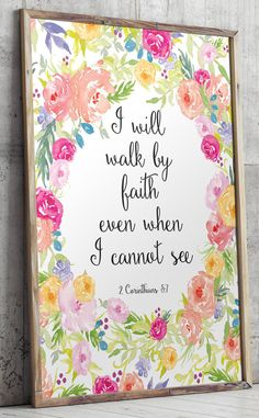 Bible Verse print Printable wall art print 2 by TwoBrushesDesigns
