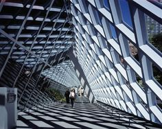 Image 14 of 58 from gallery of Seattle Central Library / OMA + LMN. Photograph by Philippe Ruault Architecture Artists, School Architecture, Architecture Plan, Architecture Details, Rem Koolhaas, Seattle Central Library, Central Building, Modern Balcony, Home Building Design