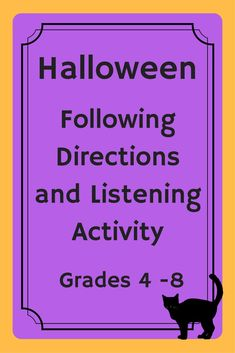 Halloween Reading Coprehension, Listening, Following Directions Activity Perfect for the days leading up to Halloween to keep your students engaged and challenged. Students will ask for more after they complete the activity. Students listen while a story is read aloud and then must follow specific directions to add details to a map. Easily converted to a reading comprehension activity. Includes 2 readings and 2 maps. Reading Comprehension Activities, Listening Activities, Active Listening, Listening Skills, Classroom Activities, Listening And Following Directions, Following Directions Activities, Creative Thinking Skills, Be My Teacher