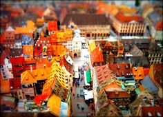 tilt shift from strasbourg cathedral's roof by cloudwhisperer67