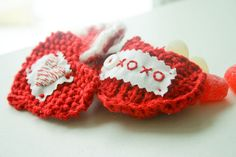 Sweetheart Knit Valentine DIY Tutorial - Flax & Twine