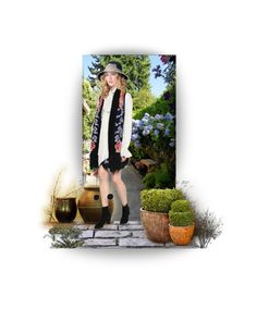 """""""Bohemian Garden"""" by chileez ❤ liked on Polyvore featuring art"""