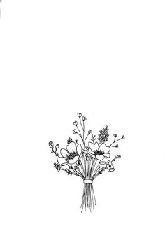 Tattoo ideen Bouquet flower sketch Boating Apparel - Funny T-Shirts Funny T-shirts can open up the c Aesthetic Drawing, Flower Aesthetic, Aesthetic Black, Aesthetic Gif, Aesthetic Vintage, Flower Sketches, Art Sketches, Floral Illustration, Simple Flowers