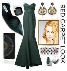 """""""Nicole Kidman"""" by queenofsienna ❤ liked on Polyvore featuring Balenciaga, Zac Posen, Tory Burch, Effy Jewelry, L'Oréal Paris, Burberry and Nicole"""
