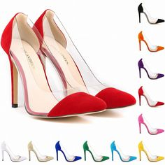 Find More Women's Pumps Information about 2015 New women's fashion suede pointed toe transparent high heels dress shoes brand design ladies 11cm pumps 35 42 Free Shipping,High Quality shoe toy,China shoe sponge Suppliers, Cheap shoes jump from Wholesale Shoes Store NO.1 on Aliexpress.com