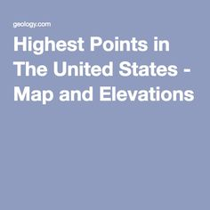 Florida High Point Britton Hill Httpcoloradoguycomflorida - Map of the highest points in the us