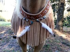 American Indian Style Equine Necklace  Fringed by MyBuddyBling