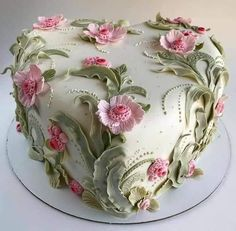 Beautiful Cake Designs, Beautiful Cakes, Cake Decorating Techniques, Cake Decorating Tips, Cake Icing, Cupcake Cakes, Cupcakes, Elegant Birthday Cakes, Mom Cake