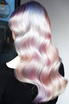 "Unicorn hair, again c: ""hair today, gone tomorrow"" в 2019 г. Pretty Blonde Hair, Pastel Rainbow Hair, Rainbow Hair Colors, Opal Hair, Aesthetic Hair, Unicorn Hair, Ombre Hair Color, Pastel Ombre Hair, Purple Ombre"