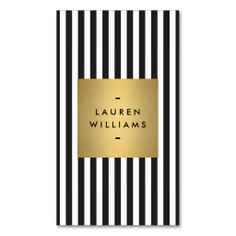 Luxe Bold Black and White Stripes with Gold Box Business Card Template. I love this design! It is available for customization or ready to buy as is. All you need is to add your business info to this template then place the order. It will ship within 24 hours. Just click the image to make your own!