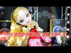 How to Make a Doll Microphone Headset - YouTube