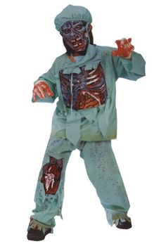boys - Child Zombie Doctor Sm Halloween Costume - Child Small @ niftywarehouse.com #NiftyWarehouse #Zombie #Horror #Zombies #Halloween