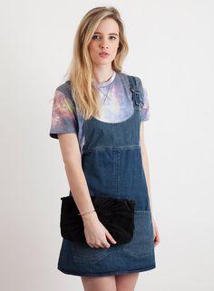 Shop  Women's Bellfield Nashua Denim Dungaree Dress. Buy retro & indie fashion at Phix Clothing.