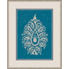 Paisley on Blue II Framed Print from the Eclectic Chic event at Joss and Main!