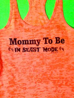 Hey, I found this really awesome Etsy listing at http://www.etsy.com/listing/171600377/maternity-workout-tank-top-mommy-to-be