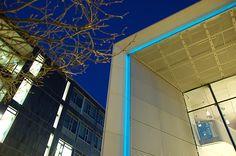 """Doncaster New Performance Venue  2"""" Natural Blue Light Tape http://www.lighttape.co.uk"""