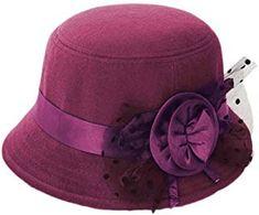 Amazon.co.uk: Purple - Hats & Caps / Accessories: Clothing Trilby Hat, Fedora Hat, Purple Accessories, Caps Hats, Women's Hats, Retro Floral, Ladies Party, Sun Hats, Hair Jewelry