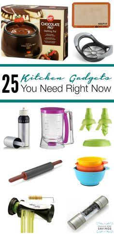 25 of the Best Kitchen Gadgets you need right now! Get these as a Mother's Day Gift, Wedding Shower Gift, or for yourself!