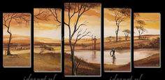 Een Oase in Afrika | Schilderijen Afrikaanse Kunst