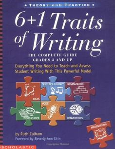 6 + 1 Traits of Writing: The Complete Guide, Grades 3 and Up [Paperback] Ruth Culham. used during student teaching. Writing Classes, Writing Resources, Teaching Writing, Writing Ideas, Teaching Ideas, Writing Lessons, Creative Writing, Writing Assessment, Literacy Strategies