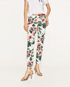 Image 2 of FLORAL PRINT TROUSERS from Zara