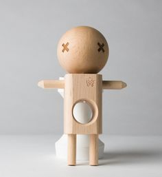 """These simple wood """"toys"""" are actually Kendamas, a game of strategy and focus for all ages. Wood Games, Puzzle Box, Stone Heart, Puzzles For Kids, Japanese Design, Wood Toys, Gifts For Teens, Xmas Gifts, Game Design"""