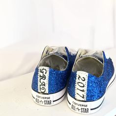 177936d0de0e  10 OFF with code  PINNED10 Grad 2017 Sparkly Royal Blue Glitter Crystals  Converse All Star