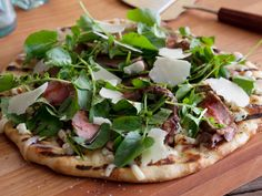 Bobby's Pizza With NY Strip, Blue Cheese and Balsamic Glaze : Try making pizza on the grill starting with Bobby's steak version, layered with flavor upon flavor.