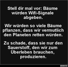 Stell dir mal vor: Bäume würden Wifi-Signale abgebe.. | Lustige Bilder, Sprüche, Witze, echt lustig