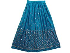 "Boho Women Fashion Gypsy Skirt Blue Gypsy Sequin Skirt Bellydance Long Skirt 36""   eBay"